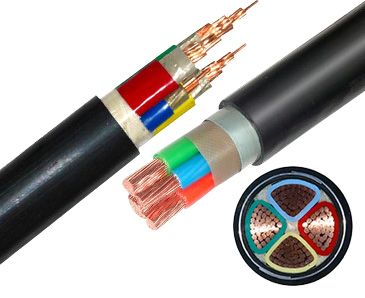 ZR-VV/VV22 Four-core 300 square flame retardant cables with copper conductors